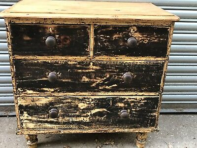 Small19th Century Painted Chest Of Drawers