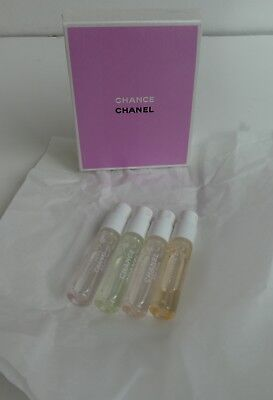 Coffret Chanel Eau De Toilette  Chance 4 Tubes