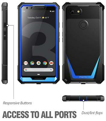 For Google Pixel 3 Case Full-Body Rugged Cover w/ Screen Protector Blue