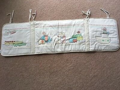 Clair de Lune 2 By Two cream animal cot bumper. Set of 2. Used