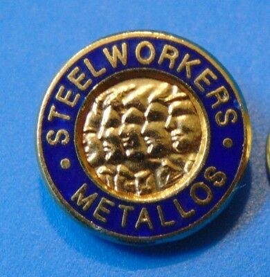 Steel Workers Metallos Trade Union US Canada Pin Lapel