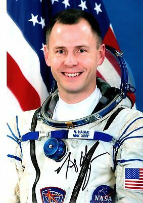 Astronaut NASA Nick Hague Soyuz MS 10 signed photo 10х15 cm