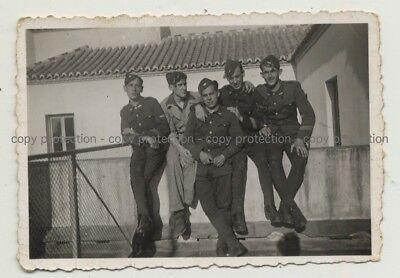 Group of Soldiers: Especialistas de Málaga / Spain (Vintage Photo B/W 1939)