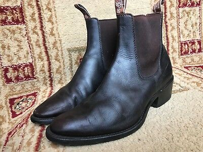 d02a075b9b0d Men s R.M. R M Williams Chelsea Dark Brown Cuban Heel Boot Sz US 9.5 Aus ...