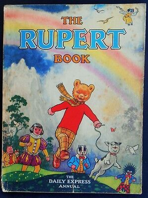 Vintage Original 1948 Rupert Bear Annual, Price Unclipped 4/-