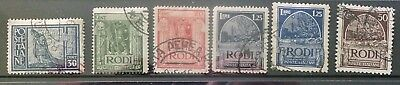 Rhodes. Six stamps.