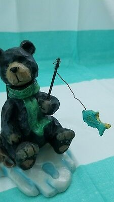 Fishing Black Bear Figurine