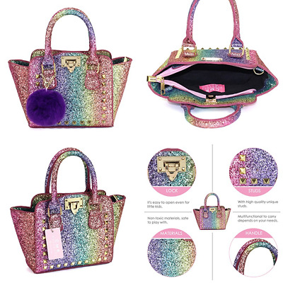 Cmk Trendy Kids My First Shinny Glitter Rainbow Purse For Little S Toddlers