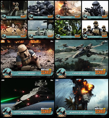 Topps Star Wars Card Trader Rogue One Battle of Scarif [12 CARD TEAL SET]