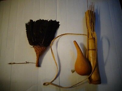 Huaorani Amazon Indian Dart Quiver Feather Fan Oriente Ecuador Amazon Jungle