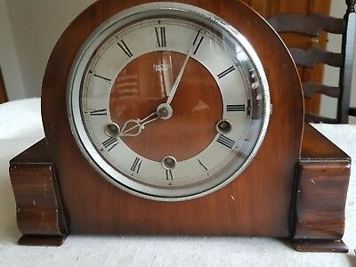 1950's Smiths Enfield Clock Westminster Chiming Mantel Clock