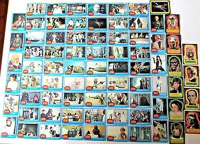 Vintage 1977 Star Wars Topps Complete Trading Cards & Stickers Set Series 1 Blue