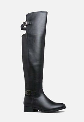 Brand New Over-The-Knee Double Buckle Flat Boot Sizes 5.5 to 12 Color Black,Grey