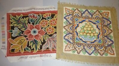 2X COMPLETED TAPESTRY PANELS EHRMAN Kaffe Fassett TURKISH LACE/ RSN CHIPPENDALE