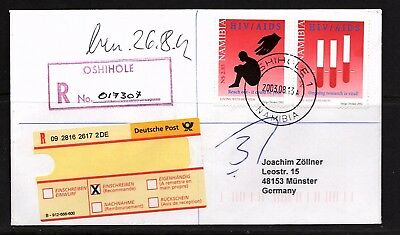 Namibia Cover - Oshihole 1 R - 13.08.2003 AIDS, Reagenzglas mit Blut SIDA