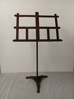 Antique Wrought Iron Music Stand (B)