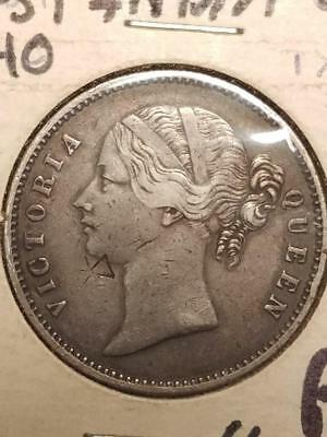 1840 East India Company 1 Rupee Small Counterstamp mark on Obverse