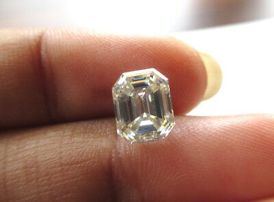 1 Piece 8.4mm Emerald Cut GH/VS2 Colorless Moissanite Diamond Loose MM140/21