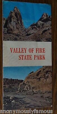 Vintage VALLEY OF FIRE STATE PARK Nevada Map Brochure Booklet 60s' 70'