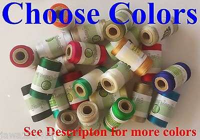Embroidery Thread Spools for Machines Brother,Janome, Singer more, Choose Colors