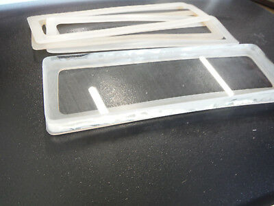 "Rectangular Sight Glass Window with Silicone Gaskets 7.5""x 2.3"""