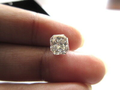 1 Piece 7.7mm Radiant Cut GH/VS2 Colorless Moissanite Diamond Loose MM140/22