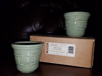 Longaberger - Woven Traditions - Votives Set Of Two - Sage 30976