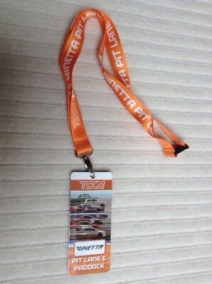 Race Souvenir Toca Ginetta 2018 Expired Pit&paddock Pass