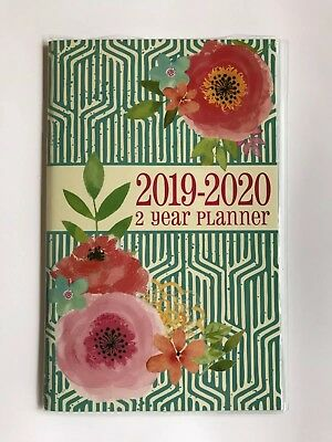 2019-2020 Two-year Monthly Planner Calendar Appointment Book,  5x8 Pink flowers