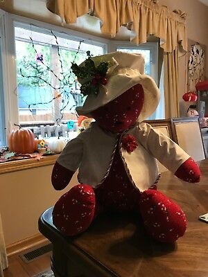 Christmas Bear. Handmade, great for home decor, hostess gift or Christmas gift.
