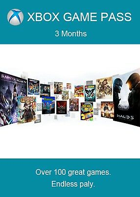 Xbox Game Pass 3 Months Subscription Xbox One Key
