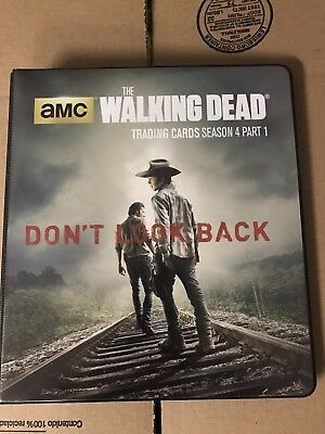 Walking Dead Season 4 Part 1 Mini Master With Binder And Wardrobe Set 10.1-10.8