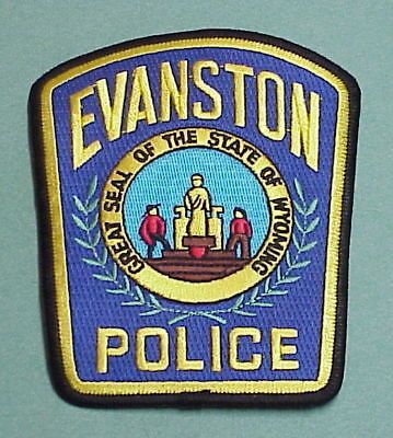 Evanston  Wyoming  Wy  Police Patch   Free Shipping!!!