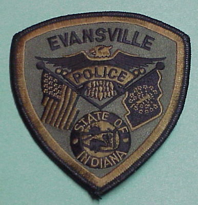 Evansville  Indiana  In  Subdued Green  Police Patch   Free Shipping!!!