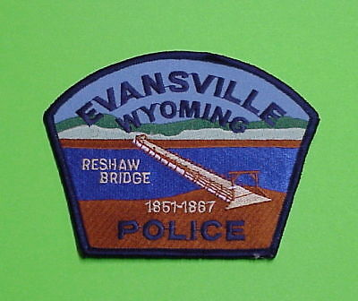 Evansville  Wyomong  Wy  Reshaw Bridge   Police Patch   Free Shipping!!!