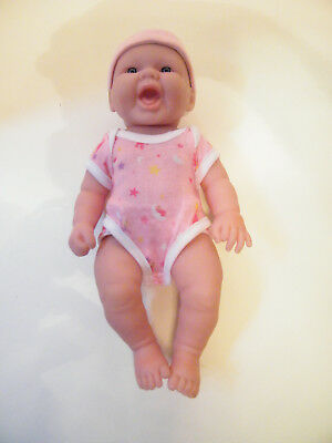 """JC TOYS BERENGUER 13"""" La NEWBORN ALL VINYL BABY DOLL IN PINK OUTFIT"""