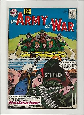Our Army at War 115 VG/F 5.0 Sgt Rock Mademoiselle Marie 1st Battle Family Mille