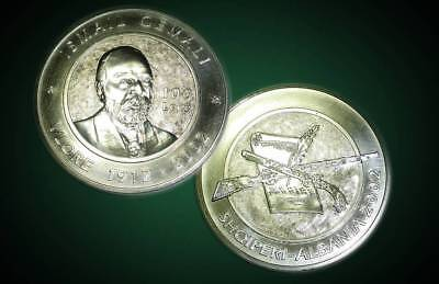 """Albania 2002 """"90th Anniversary of Independence"""" 100 Leke Silver Coin - Very Rare"""