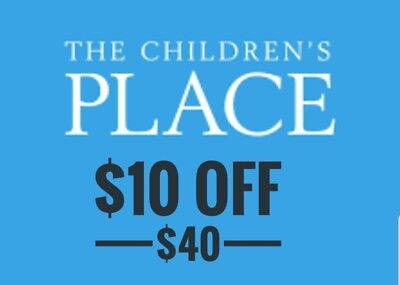 2×$10 off $40 Children's Place Coupon Codes Exp. Nov.10, 2018 Online & In Store
