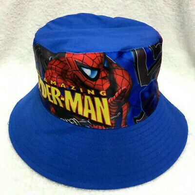 Kids Boys Spiderman Toddler Sunny Buckler Bucket Cap Round Hat Gift 2-8 Years
