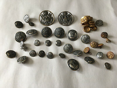 Vintage Air Force Navy Buttons Pin Lot Good Variety