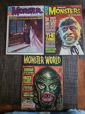 Famous Monsters And Monster World Lot