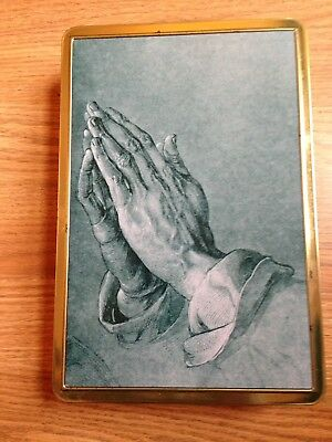 PRAYING HANDS  Stollwerck Finest Chocolates Tin - Made in Germany