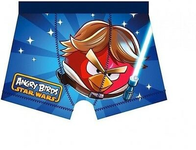 Boys NEW Blue STAR WARS ANGRY BIRDS  Boxer Shorts  Trunks  5 - 6 years 1 pair