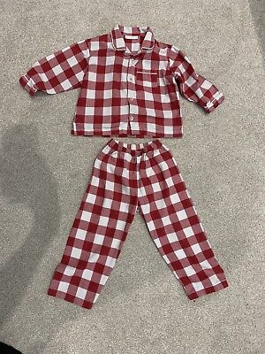 little white company pyjamas 18-24 Months  Red Check