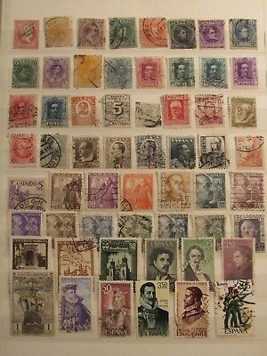 Spane stamp collection on 3 pages