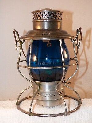 C&WI Reliable railroad lantern w/ geen etched C&WI globe