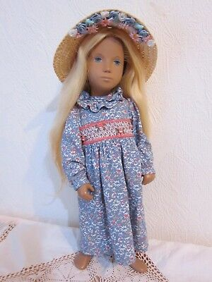 """Handmade Outfit For Vintage ~ SASHA DOLL ~ 16"""" EARLY GINGHAM DRESS"""