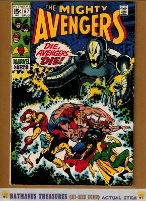 Avengers #67 (5.5) Fine- 4th Ultron Appearance 1969 Silver Age Key Issue
