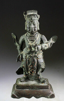 *SC* WONDERFUL CHINESE BRONZE GUARDIAN FIGURE, Ming 15-17th cent.!